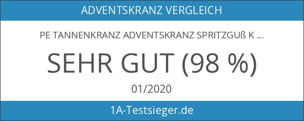 PE Tannenkranz Adventskranz Spritzguß Kranz Ø ca. 45 cm