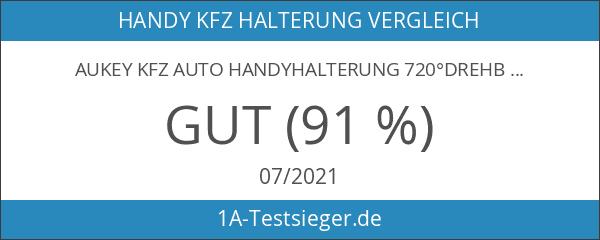 AUKEY Kfz Auto Handyhalterung 720°drehbar Universal Klemme Windschutzschieb Armaturenbrett Handyhalter