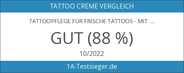 Tattoopflege für frische Tattoos - Mit Panthenol und 100% Bio-Hagebuttenkernöl