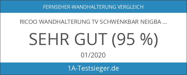 RICOO Wandhalterung TV Schwenkbar Neigbar S1844 Universal LCD Wandhalter Ausziehbar
