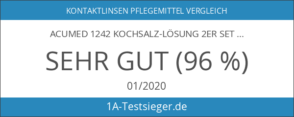 Acumed 1242 Kochsalz-Lösung 2er Set