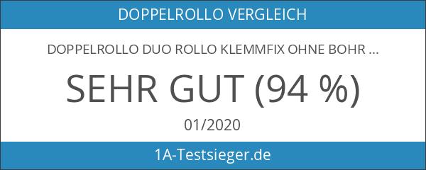 Doppelrollo Duo Rollo Klemmfix ohne Bohren weiss 50x140 cm