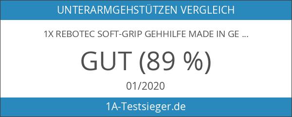 1x REBOTEC SOFT-GRIP Gehhilfe made in Germany Unterarm-Gehstütze Krücke