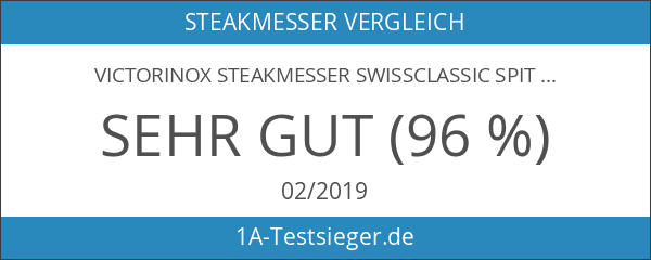 Victorinox Steakmesser Swissclassic Spitz 6er Pack
