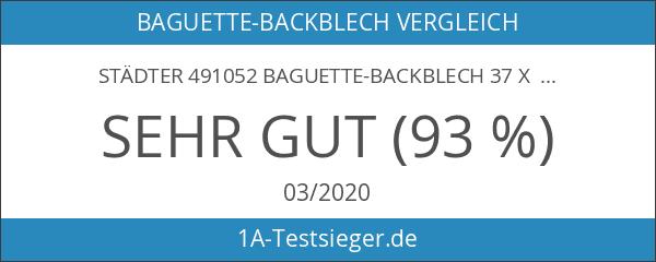 Städter 491052 Baguette-Backblech 37 x 23 cm
