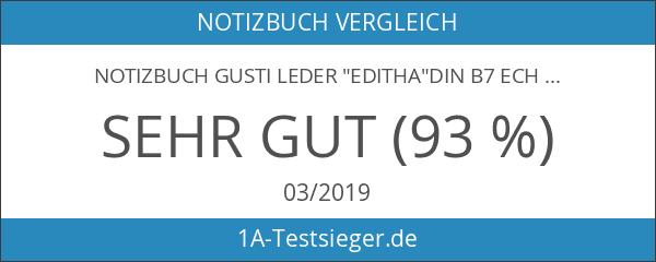 "Notizbuch Gusti Leder ""Editha""DIN B7 Echtes Leder"