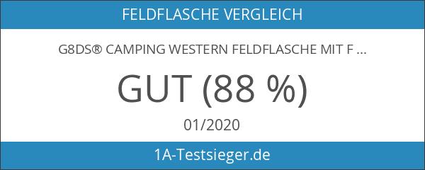 G8DS® CAMPING WESTERN FELDFLASCHE mit FILZBEZUG 1