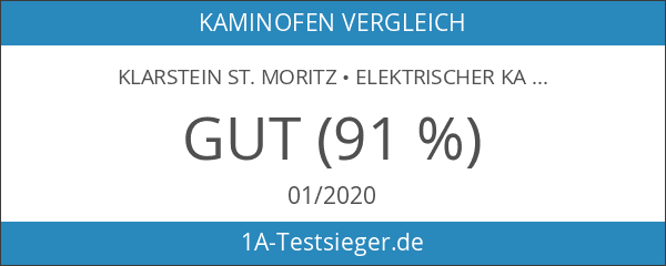 Klarstein St. Moritz Retro Kaminofen elektrischer Kamin mit Heizlüfter Nostalgie-Design