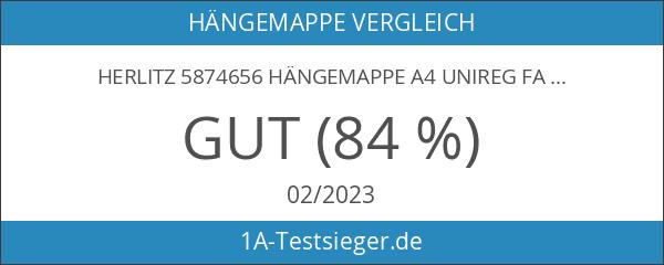 Herlitz 5874656 Hängemappe A4 UniReg farbig sortiert 5er Kraftkarton