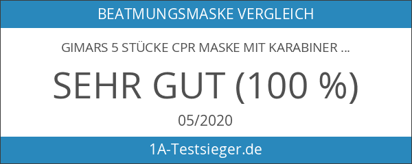 GIMARS 5 Stücke CPR Maske mit Karabinerhaken CPR Mask RESPI-Key