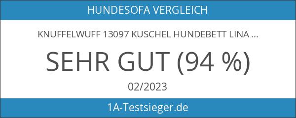 Knuffelwuff 13097 Kuschel Hundebett Lina Karo - Größe XXL