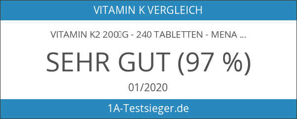 Vitamin K2 200µg - 240 Tabletten - Menaquinon MK7 -