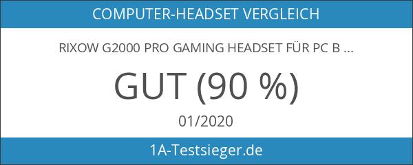 Rixow G2000 Pro Gaming Headset für PC Blau