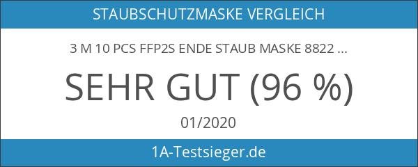 3M Atemschutzmaske mit Ventil 10er Pack - 8822 - Sicherheitsstufe