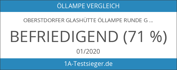 Oberstdorfer Glashütte Öllampe Runde Glasöllampe aus klarem Glas zum hinstellen