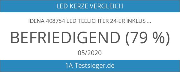 Idena 408754 LED Teelichter 24-er inklusive Batterien
