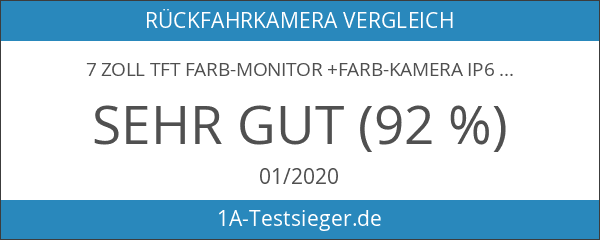 7 Zoll TFT Farb-Monitor +Farb-Kamera IP67 inkl. 20 Meter Anschlusskabel