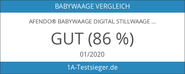 AFENDO® Babywaage digital Stillwaage