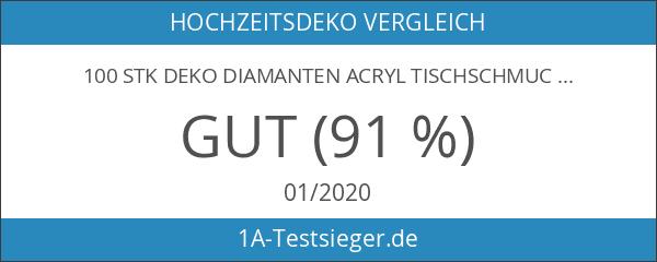 100 Stk Deko Diamanten Acryl Tischschmuck Hochzeit Dekosteine Klar Kristall-Acryl-Diamanten