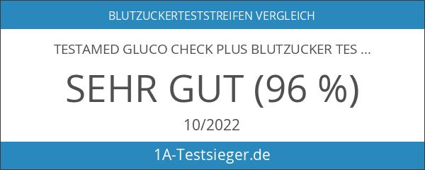 TESTAmed Gluco Check Plus Blutzucker Teststreifen