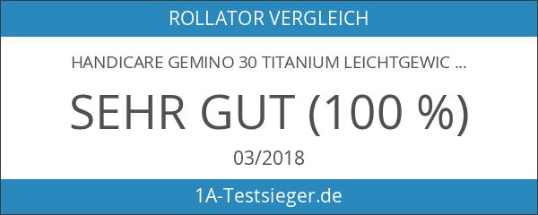 Handicare Gemino 30 Titanium Leichtgewichtrollator