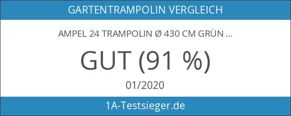 Ampel 24 Trampolin Ø 430 cm grün