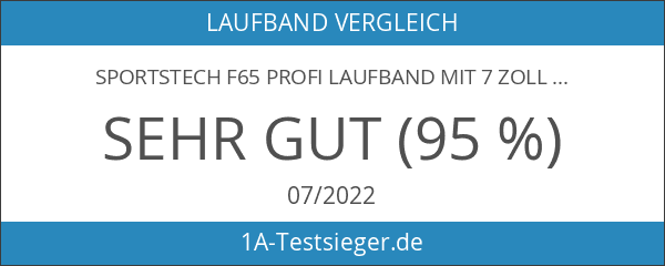 "Sportstech F66 Profi Laufband mit 7"" LED Display und Smartphone"