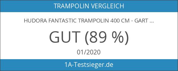 HUDORA Fantastic Trampolin 400 cm - Gartentrampolin mit Sicherheitsnetz -