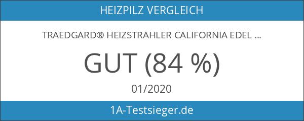 Traedgard® Heizstrahler California Edelstahl mit Glasröhre