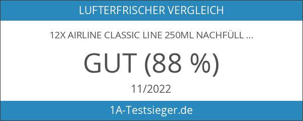 12x airline Classic Line 250ml Nachfüller für automatische Duftspender Vanille