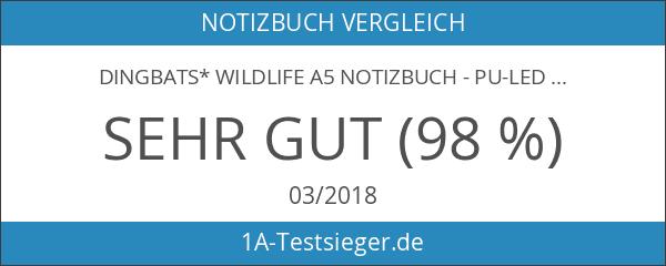 Dingbats* Wildlife A5 Notizbuch - PU-Leder