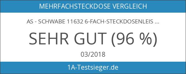as - Schwabe 11632 6-fach-Steckdosenleiste schwarz 3m H05VV-F 3G1