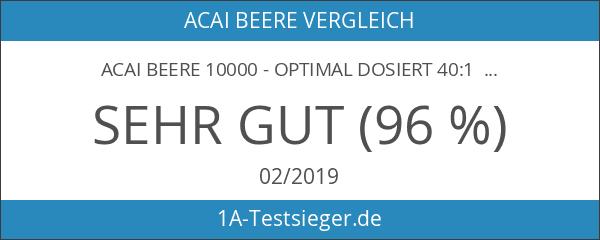 Acai Beere 10000 - optimal dosiert 40:1 Konzentrat - Made