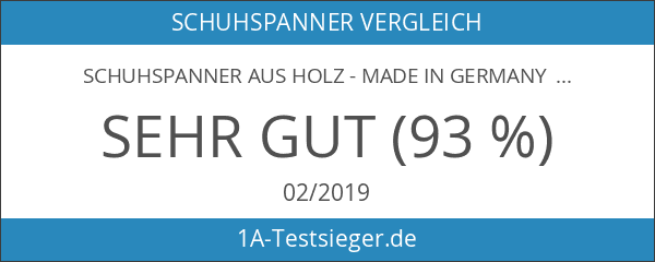 Schuhspanner aus Holz - Made in Germany - Buche Naturholz