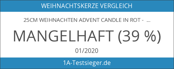 25cm Weihnachten Advent Candle in rot - Countdown To Weihnachtskerze