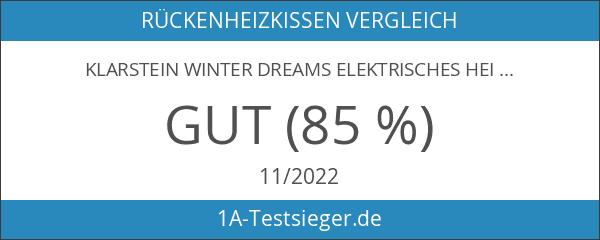 Klarstein Winter Dreams elektrisches Heizkissen Wärmekissen für Rücken Nacken und