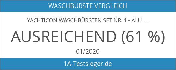 Yachticon Waschbürsten Set Nr. 1 - Alu Teleskop Waschbürste 90-175