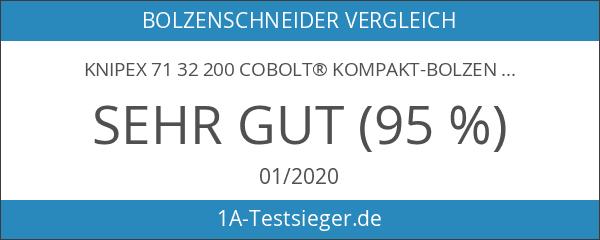 KNIPEX 71 32 200 CoBolt® Kompakt-Bolzenschneider schwarz atramentiert mit schlanken
