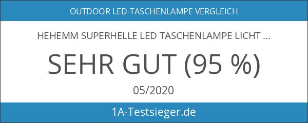 HEHEMM Superhelle LED Taschenlampe Licht mit Schwanz Button Switch gesteuert