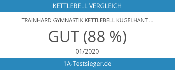 TrainHard Gymnastik Kettlebell Kugelhantel Vinyl Handgewicht 2 bis 20 KG