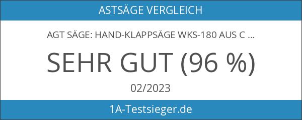 AGT Säge: Hand-Klappsäge WKS-180 aus Carbonstahl mit Trapez-Verzahnung