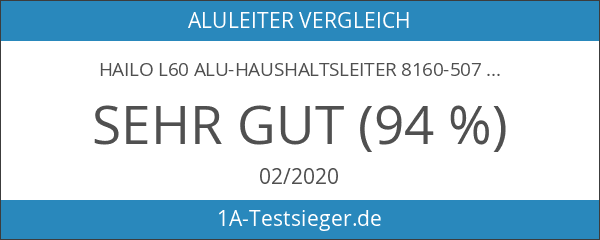 Hailo L60 Alu-Haushaltsleiter 8160-507