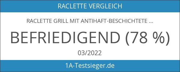 Raclette Grill mit Antihaft-beschichtete Thermisch Isolierte Griffe 8 Pfännchen für