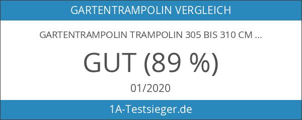Gartentrampolin Trampolin 305 bis 310 cm in blau mit Sicherheitsnetz