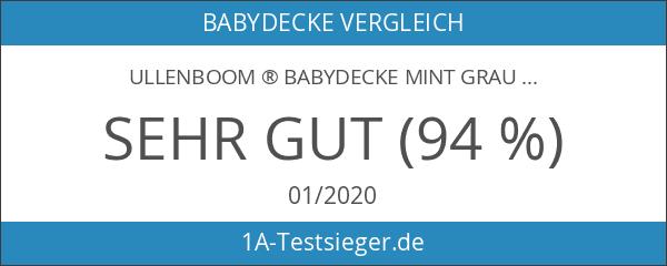 ULLENBOOM ® Babydecke Mint Grau
