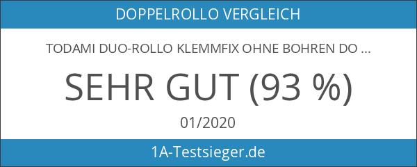 TODAMI Duo-Rollo Klemmfix ohne Bohren Doppelrollo Seitenzugrollo Kettenzugrollo 150 cm