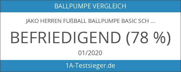 JAKO Herren Fußball Ballpumpe Basic Schwarz