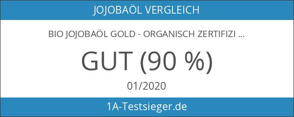 Bio Jojobaöl Gold - Organisch zertifiziert - 100% reines kaltgepresstes