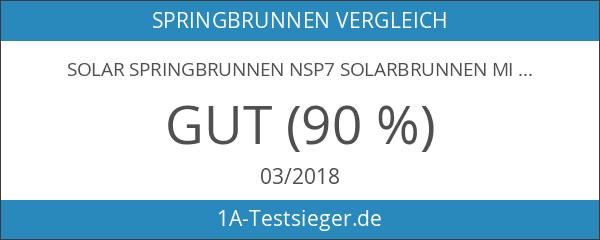 Solar Springbrunnen NSP7 Solarbrunnen mit Akku und LED Beleuchtung