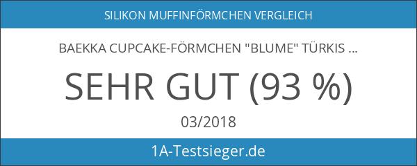 "baekka Cupcake-Förmchen ""Blume"" türkis 12er Pack"